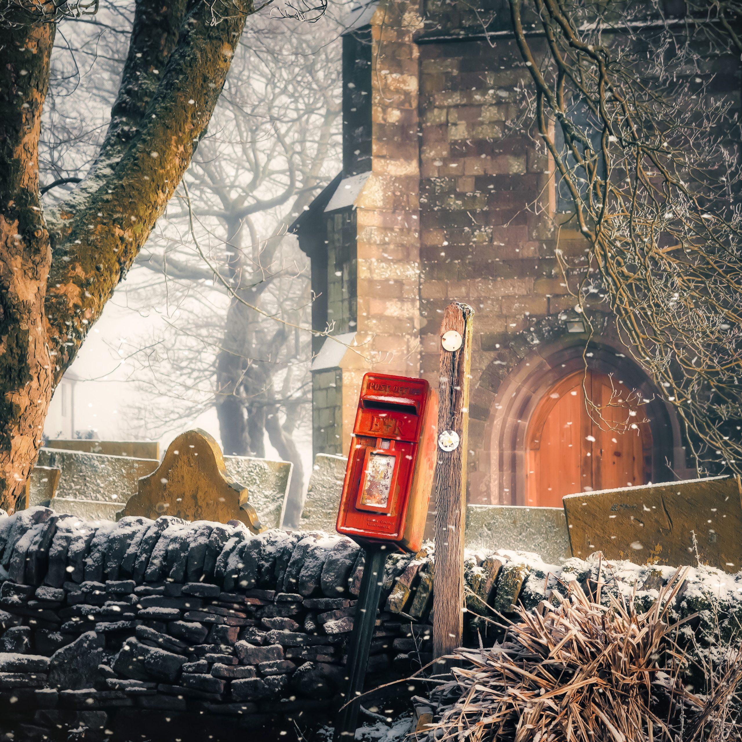 Postbox Snow Church